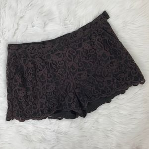H&M Lace High Waisted Shorts